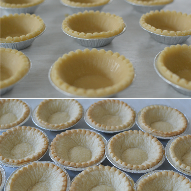 Bake tart shells